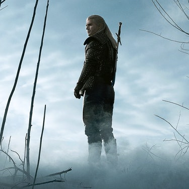 Geralt stares into fog on Witcher Netflix