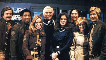 The cast in the OG 'Battlestar Galactica' in 1978