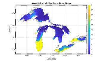 particle density great lakes