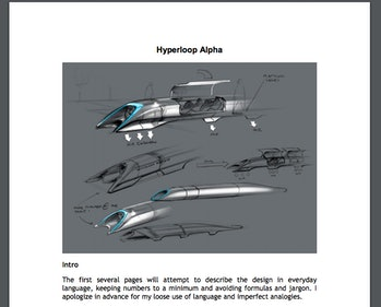 Hyperloop Alpha whitepaper