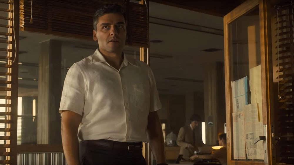 Oscar Isaac as Peter Malkin in 'Operation Finale'.