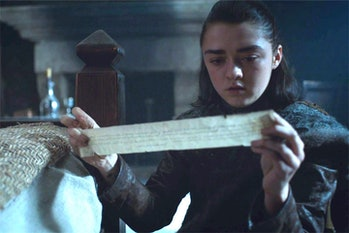 Maisie Williams as Arya Stark in 'Eastwatch'