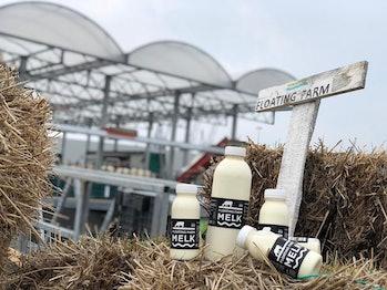 Floating Farm milk