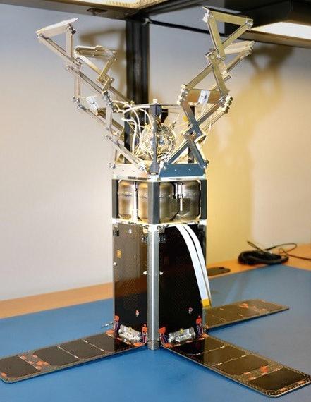 CryoCube 1 in its deployed configuration.
