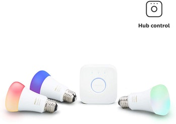 Philips Hue White and Color Ambiance LED Smart Light Bulb Starter Kit, 3 A19 Smart Bulbs & 1 Hue Hub (Works with Alexa, Apple HomeKit & Google Assistant)