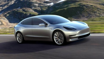 A prototype mockup of the Model 3.