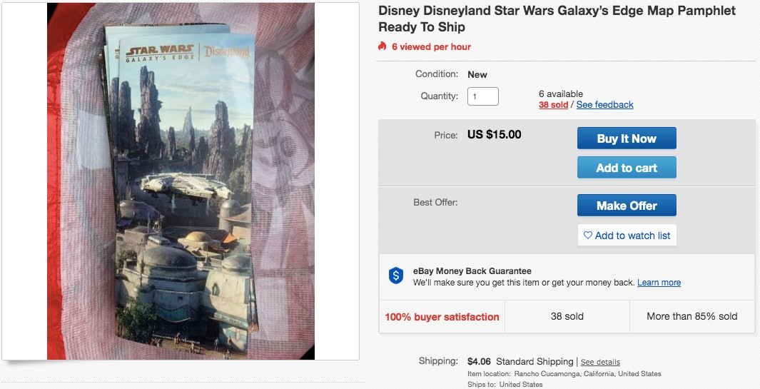 Star Wars eBay Galaxy's Edge