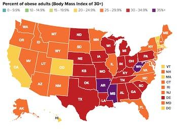 red states obesity problem