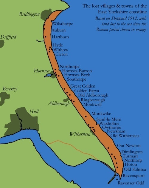 map holderness coast erosion