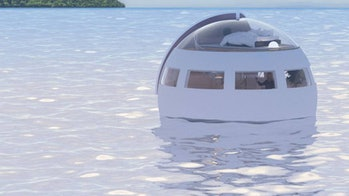 A floating hotel pod.