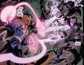 Doctor Strange fights the Minorus in Marvel Comics