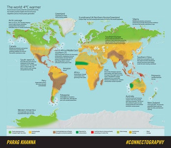 How the world may change under four degrees of warming.
