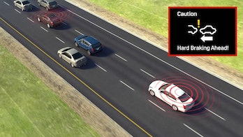 If a car equipped with the technology brakes hard, nearby vehicles will receive an alert to enable more time to react.