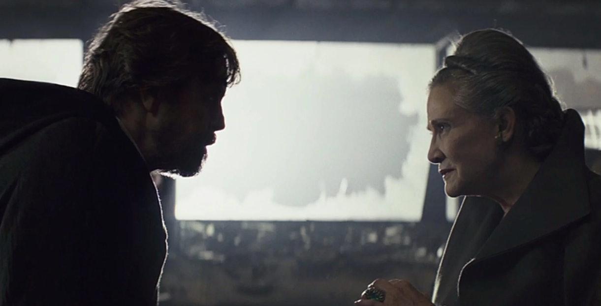 Luke and Leia in 'The Last Jedi'