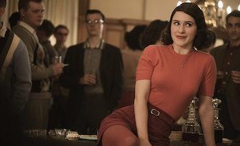 "Rachel Brosnahan as Miriam ""Midge"" Maisel in 'The Marvelous Mrs. Maisel'."