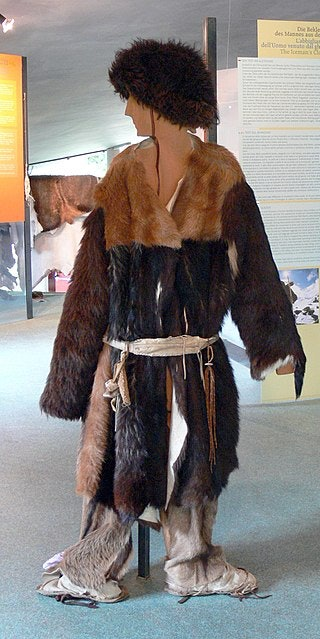 Reconstruction of the neolithic clothes worn by Ötzi