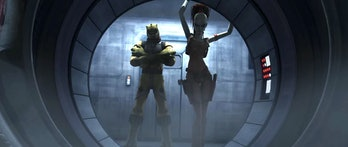 Bossk and Aurra Sing in 'The Clone Wars'