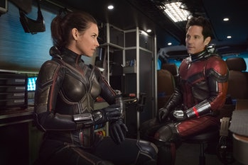 Hope Van Dyne (Evangeline Lilly) and Scott Lang (Paul Rudd).