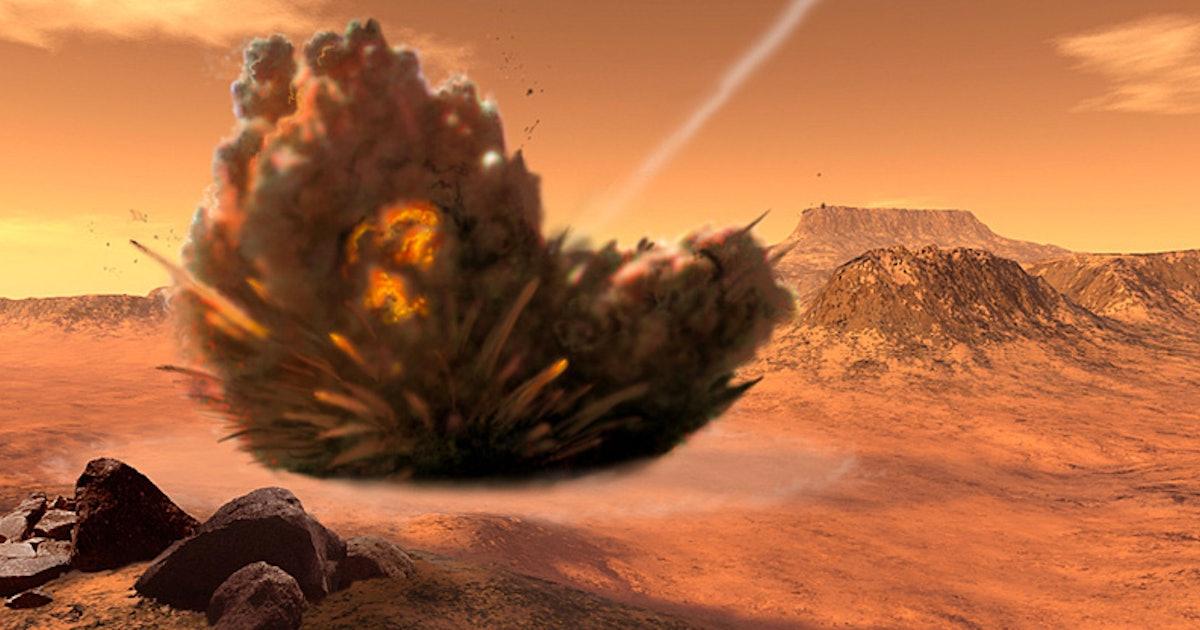 asteroid collision with mars photos ile ilgili görsel sonucu