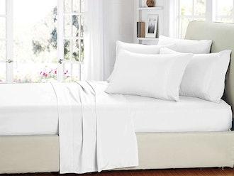 Smart Sheets® White Microfiber Sheet Set