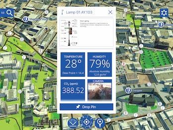 smart city data map 3D