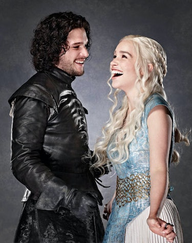 jon snow daenerys targaryen game of thrones got kit harrington emelia clarke