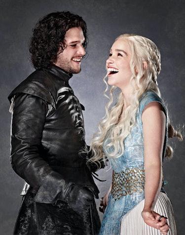 jon snow daenerys targaryen game of thrones got kit harrington emelia clarke