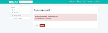 Sarahah delete account