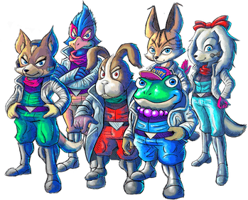 'Star Fox 2' characters