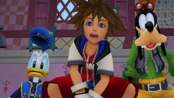Donald, Sora, and Goofy in 'Kingdom Hearts'.