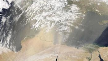 NASA Terra satellite image