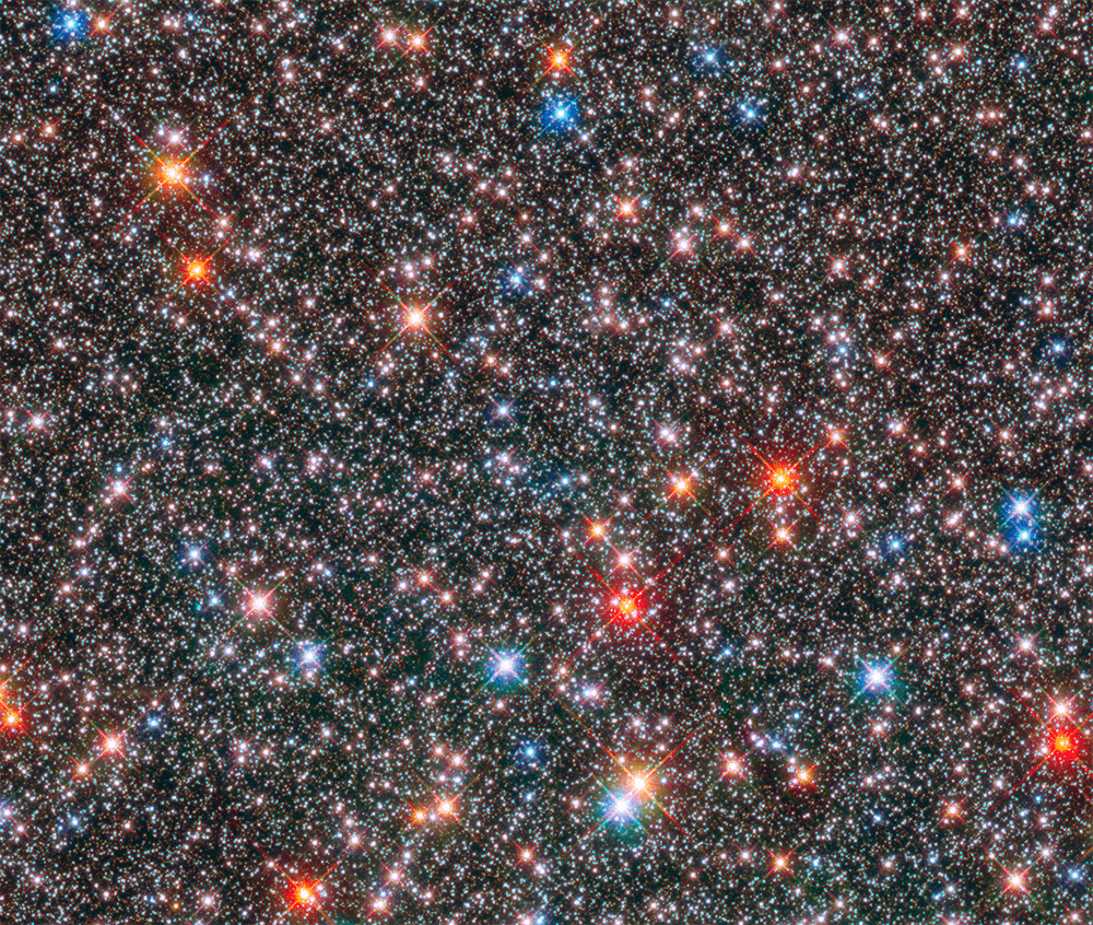 This Hubble Space Telescope image of a sparkling jewel box full of stars captures the heart of our Milky Way galaxy.