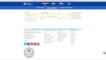 FCC Website Screenshot