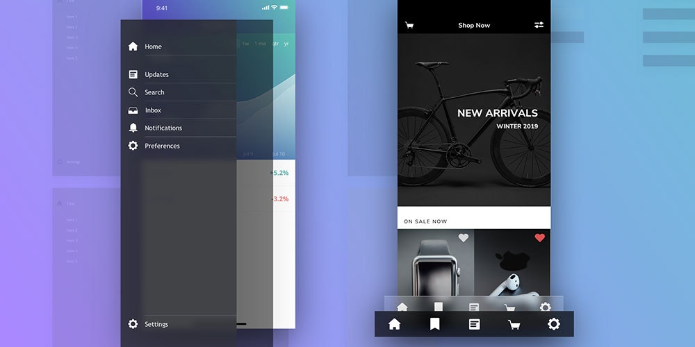 Sketch Packs App Design Elements Bundle