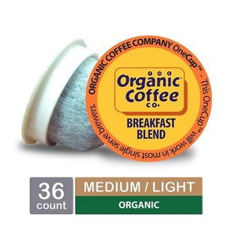 The Organic Coffee Co. OneCup, Breakfast Blend, Single Serve Coffee K-Cup Pods