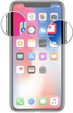 iphone x screenshot buttons