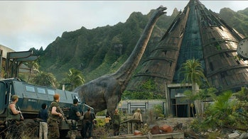 A Brontosaurus in 'Jurassic World: Fallen Kingdom'.