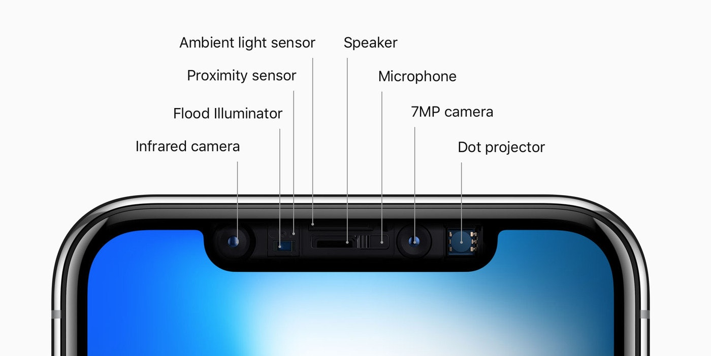 iphone x notch diagram