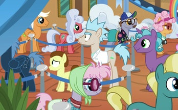 Pony Rick and Pony Morty do not look like authentic versions of themselves in 'My Little Pony: Friendship Is Magic'.