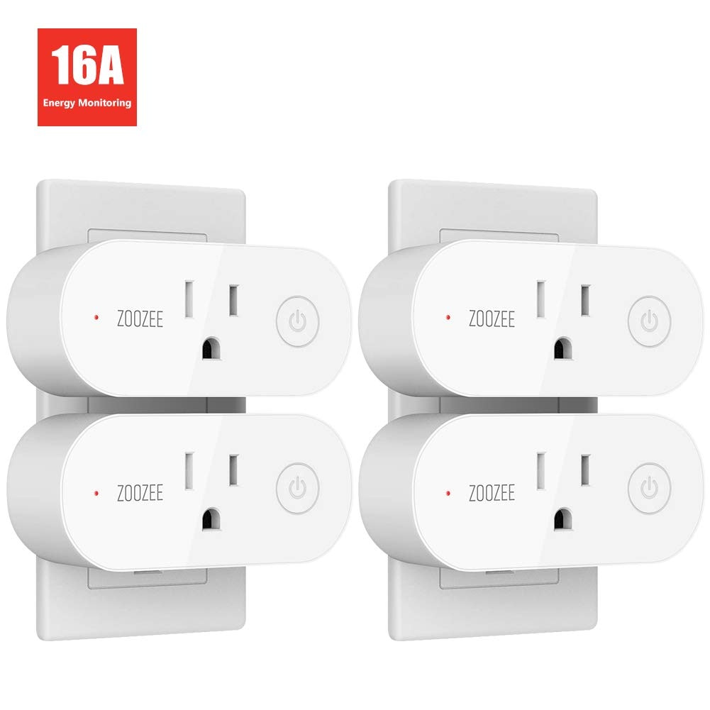 Smart Plug Wifi Outlet ZOOZEE Compatible With Alexa, Echo, Google Home and IFTTT, No Hub Required, Remote Control, with Timer Function