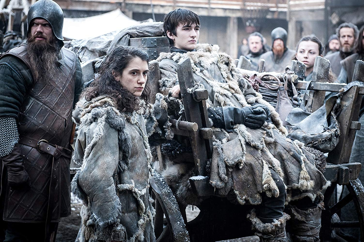Ellie Kendrick and Isaac Hempstead Wright as Bran Stark on 'Game of Thrones'