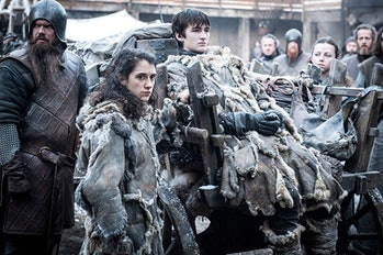 Ellie Kendrick and Isaac Hempstead Wright as Bran Stark on 'Game of Thrones'