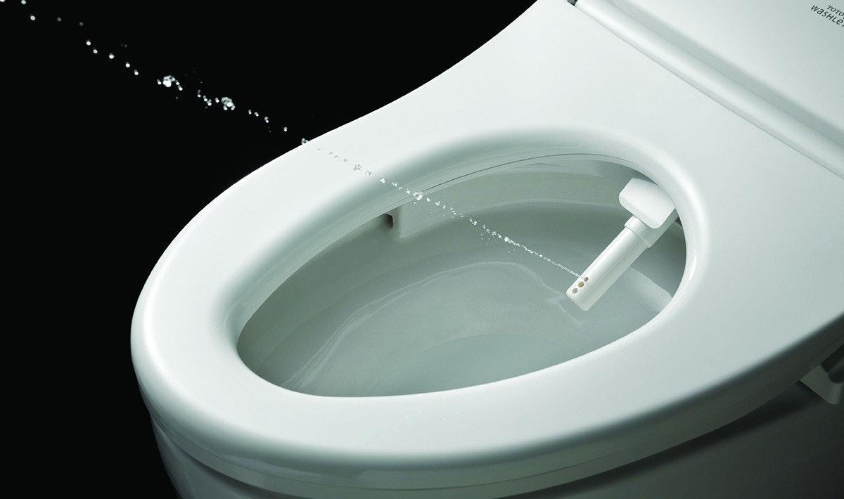 Toto Washlet s550e electronic bidet toilet seat cleaning wand spray