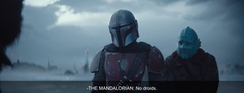 the mandalorian hates droids