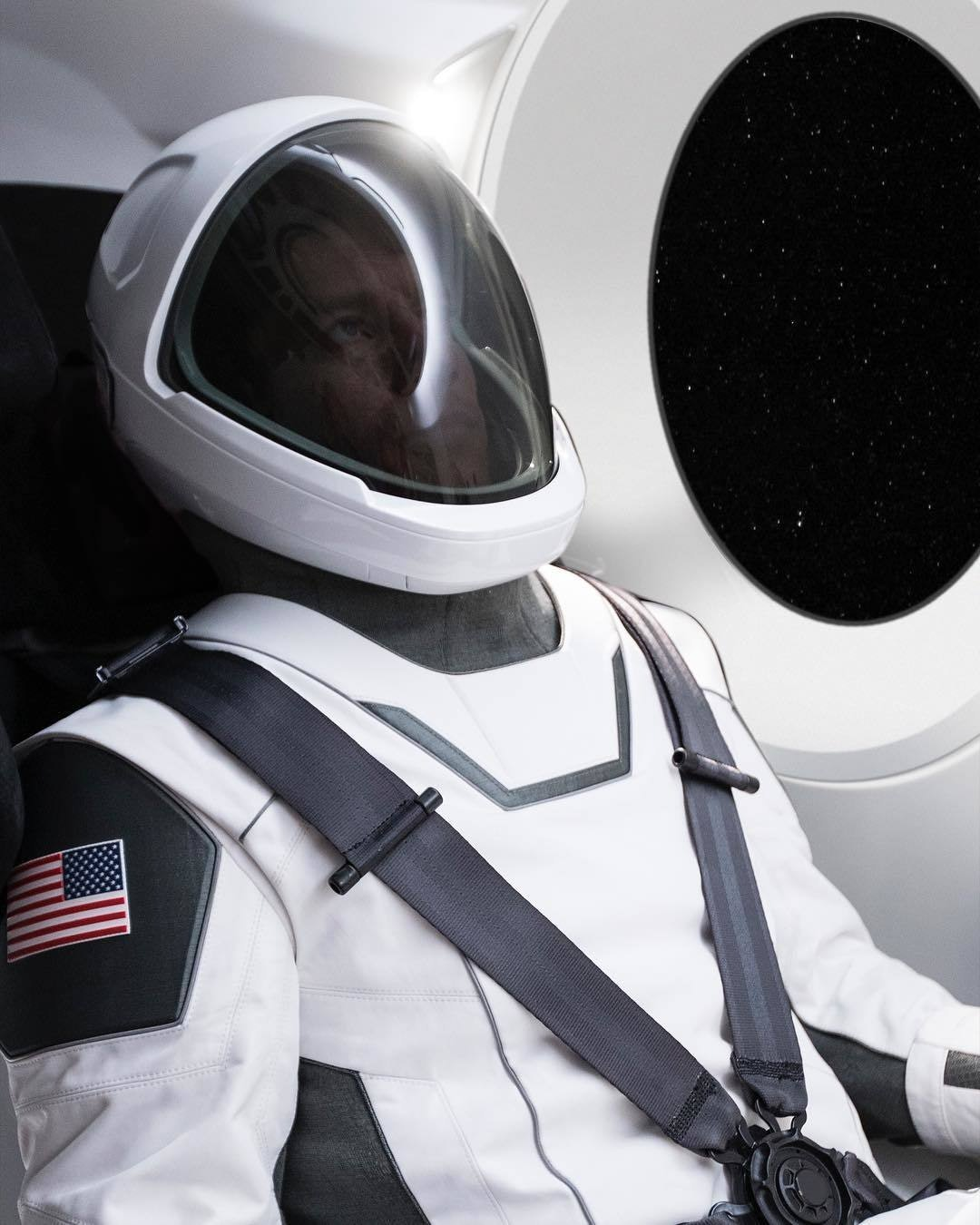 SpaceX's suit in action.