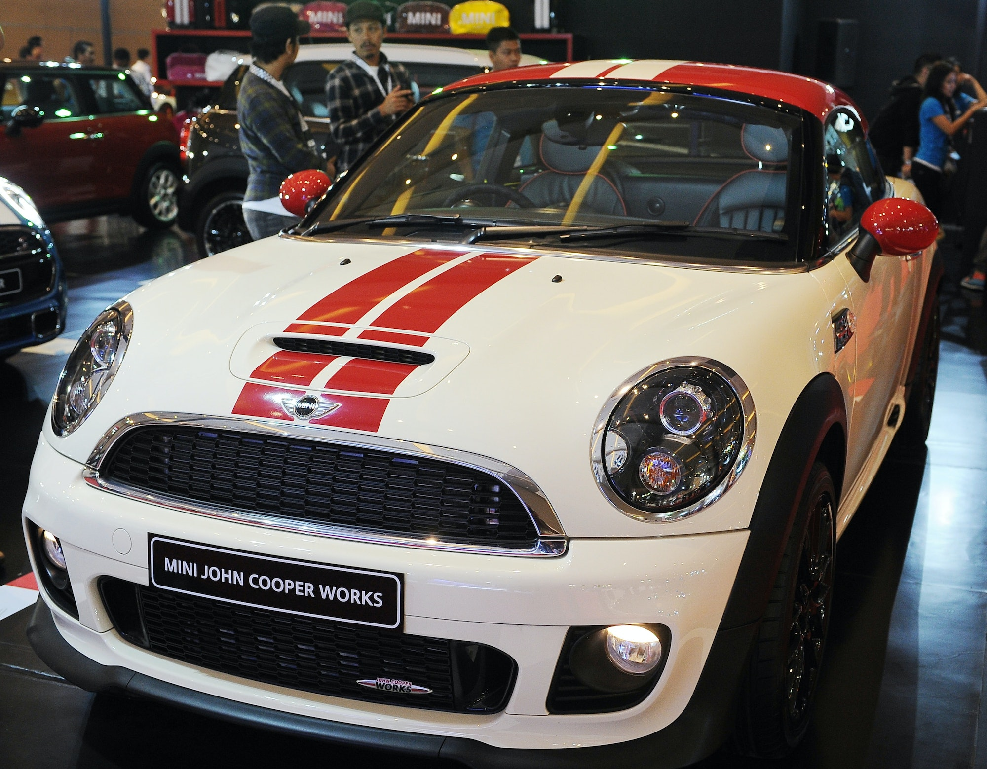 A Mini Cooper. The electric Mini's design has yet to be released.