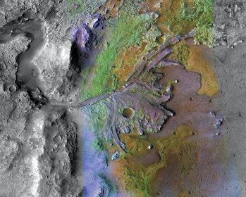 NASA river delta mars 2020