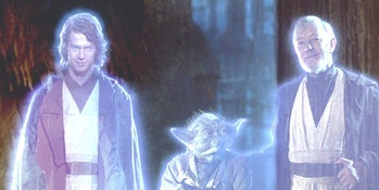 anakin skywalker force ghost hayden christensen