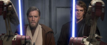 Ewan McGregor and Hayden Christensen in Star Wars Revenge of the Sith