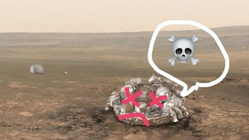 The Sciaparelli lander may have crashed on Mars but we still don't know.